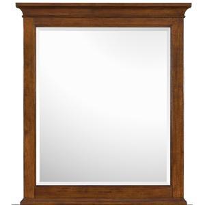 Portrait Mirror with Cherry Veneer Frame