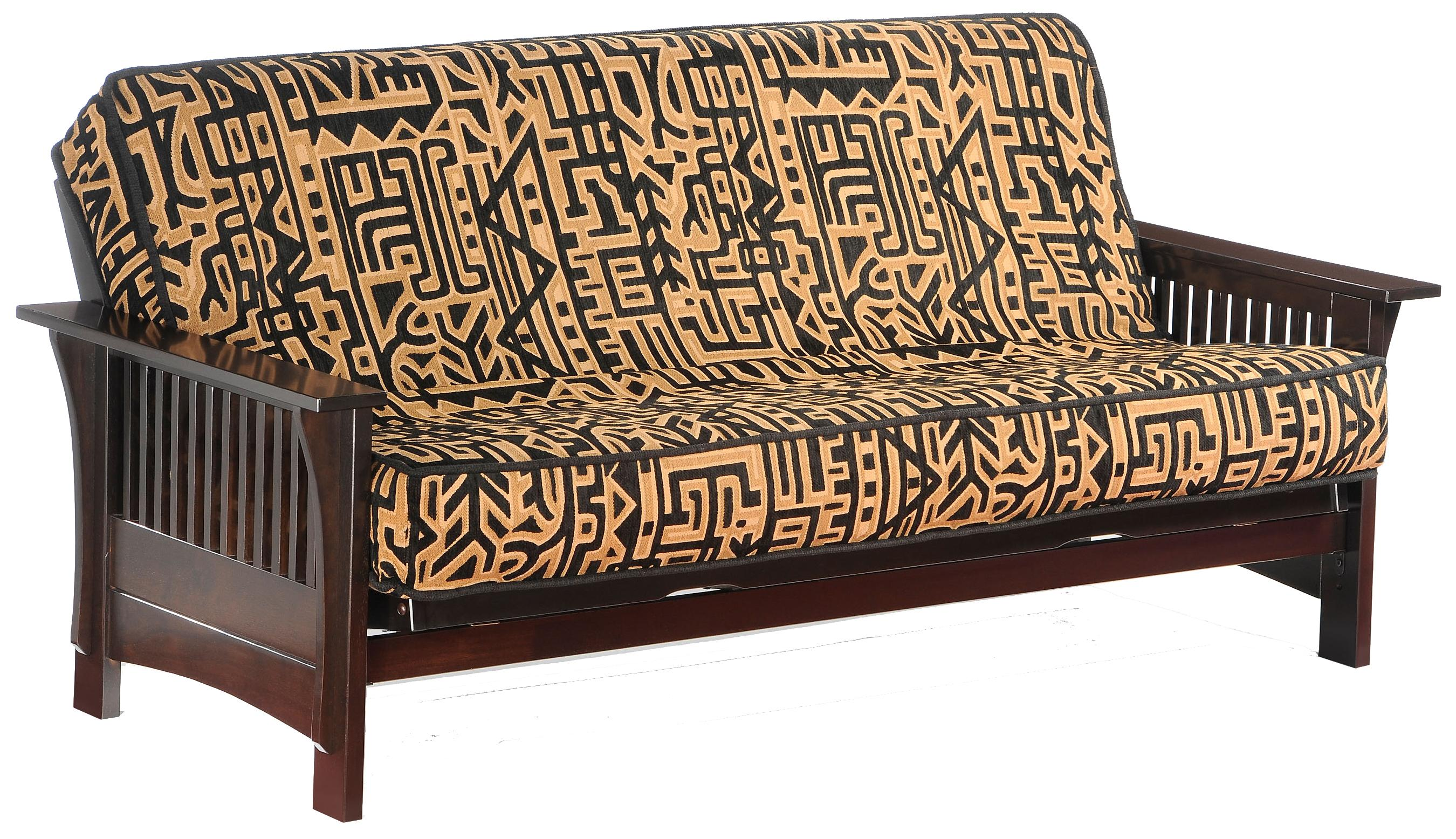 Autumn Dark Chocolate Chair Size Futon by Night & Day Furniture at Furniture and ApplianceMart