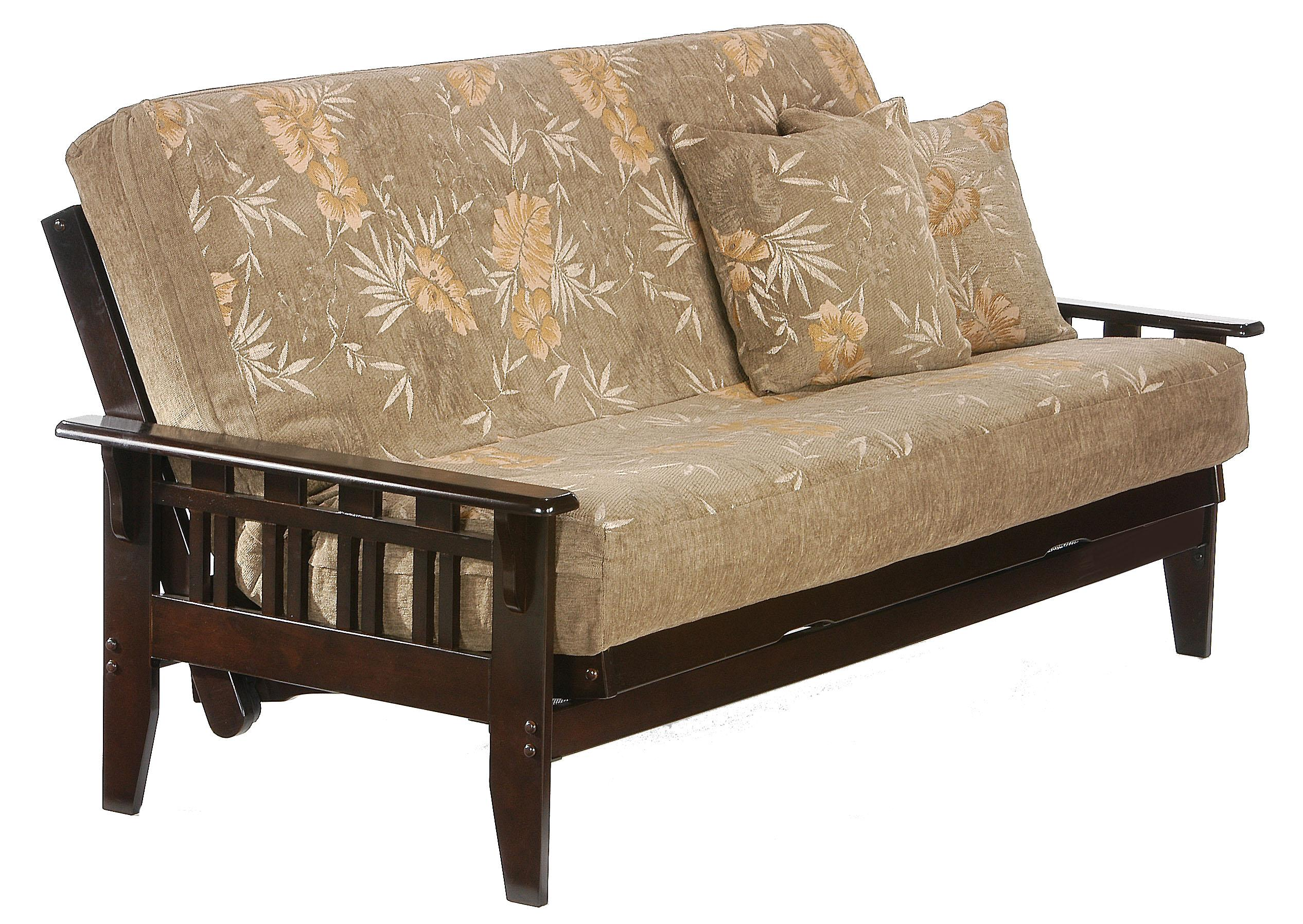Kingston Dark Chocolate Chair Size Futon by Night & Day Furniture at Furniture Superstore - Rochester, MN