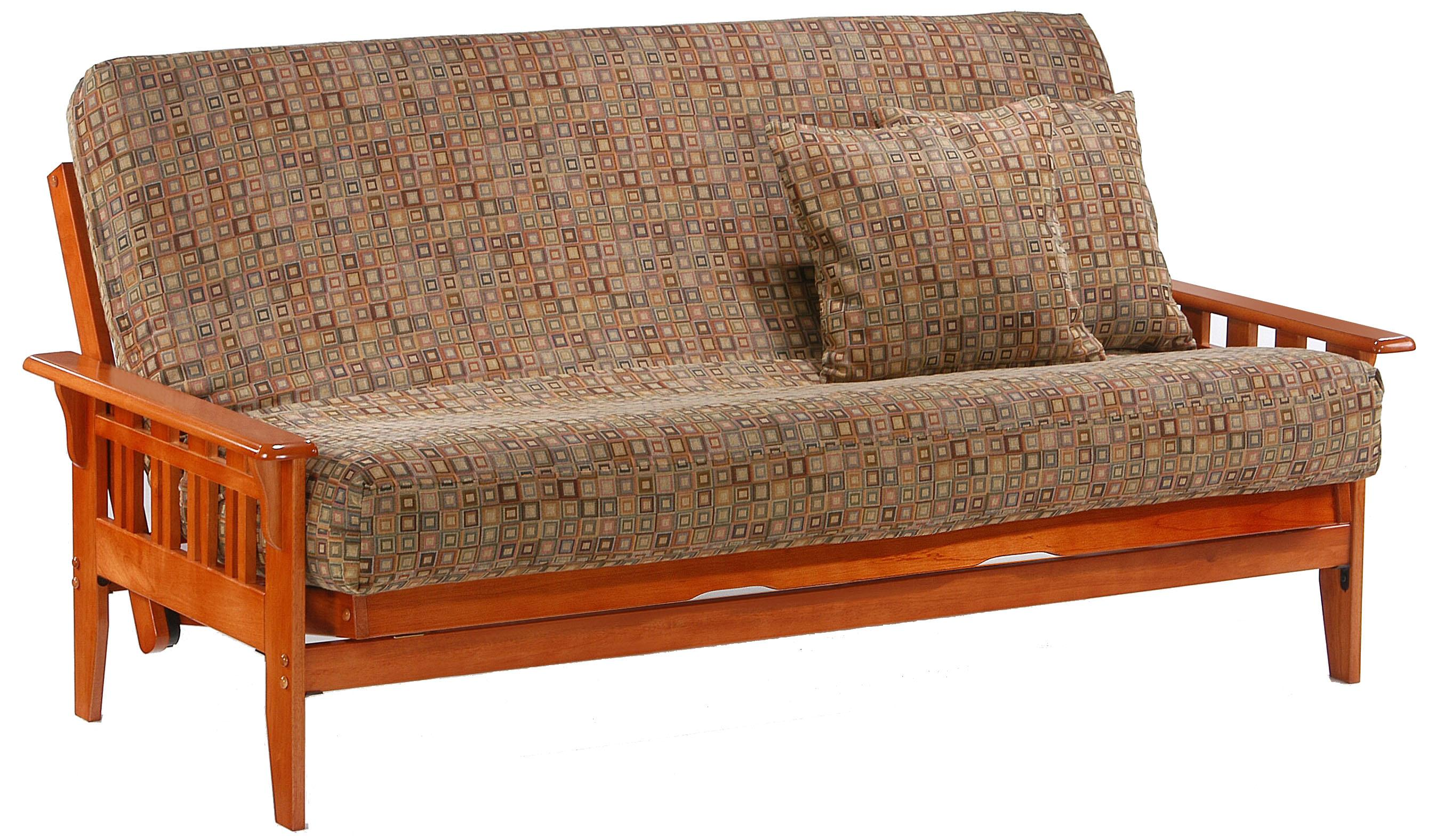 Kingston Teak Queen Size Futon by Night & Day Furniture at Furniture and ApplianceMart