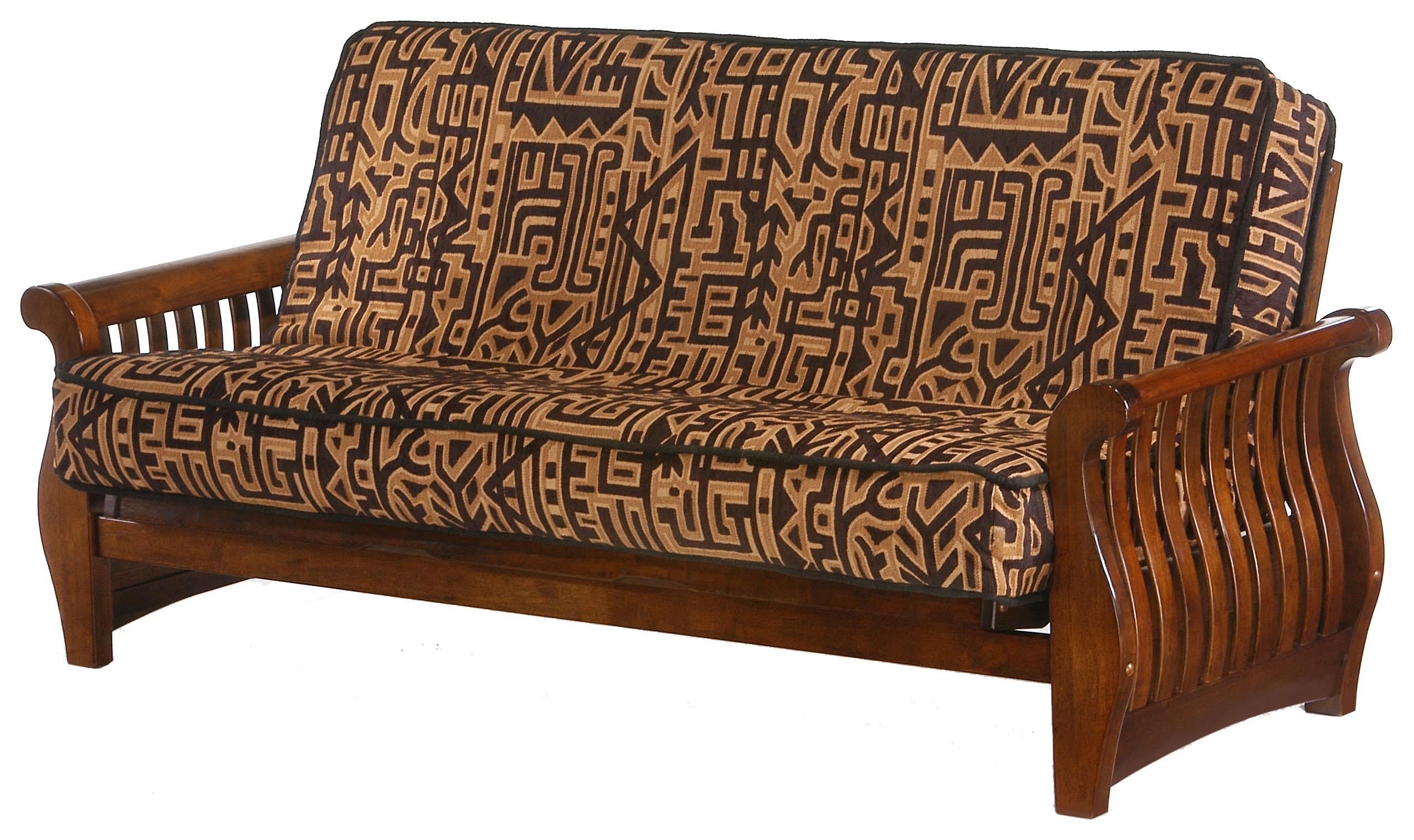 Nightfall Black Walnut Chair Size Futon by Night & Day Furniture at Furniture and ApplianceMart