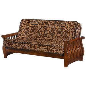 Night & Day Furniture Nightfall Black Walnut Chair Size Futon