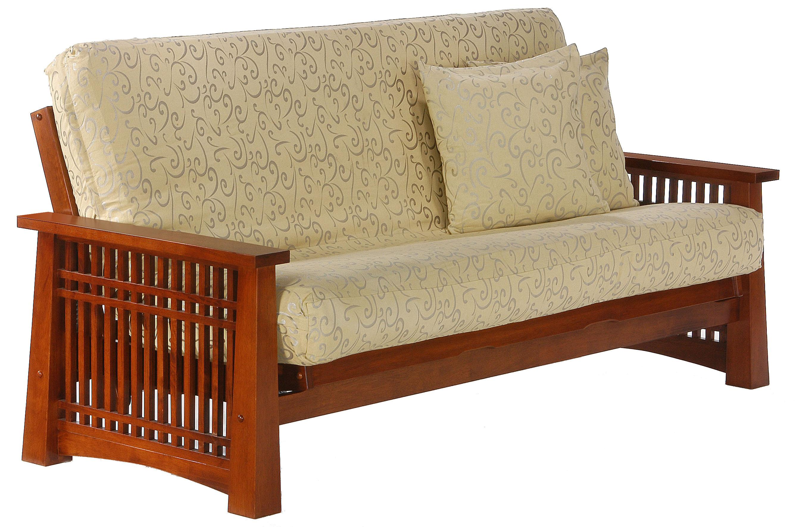 Solstice Cherry Queen Size Futon by Night & Day Furniture at Furniture and ApplianceMart