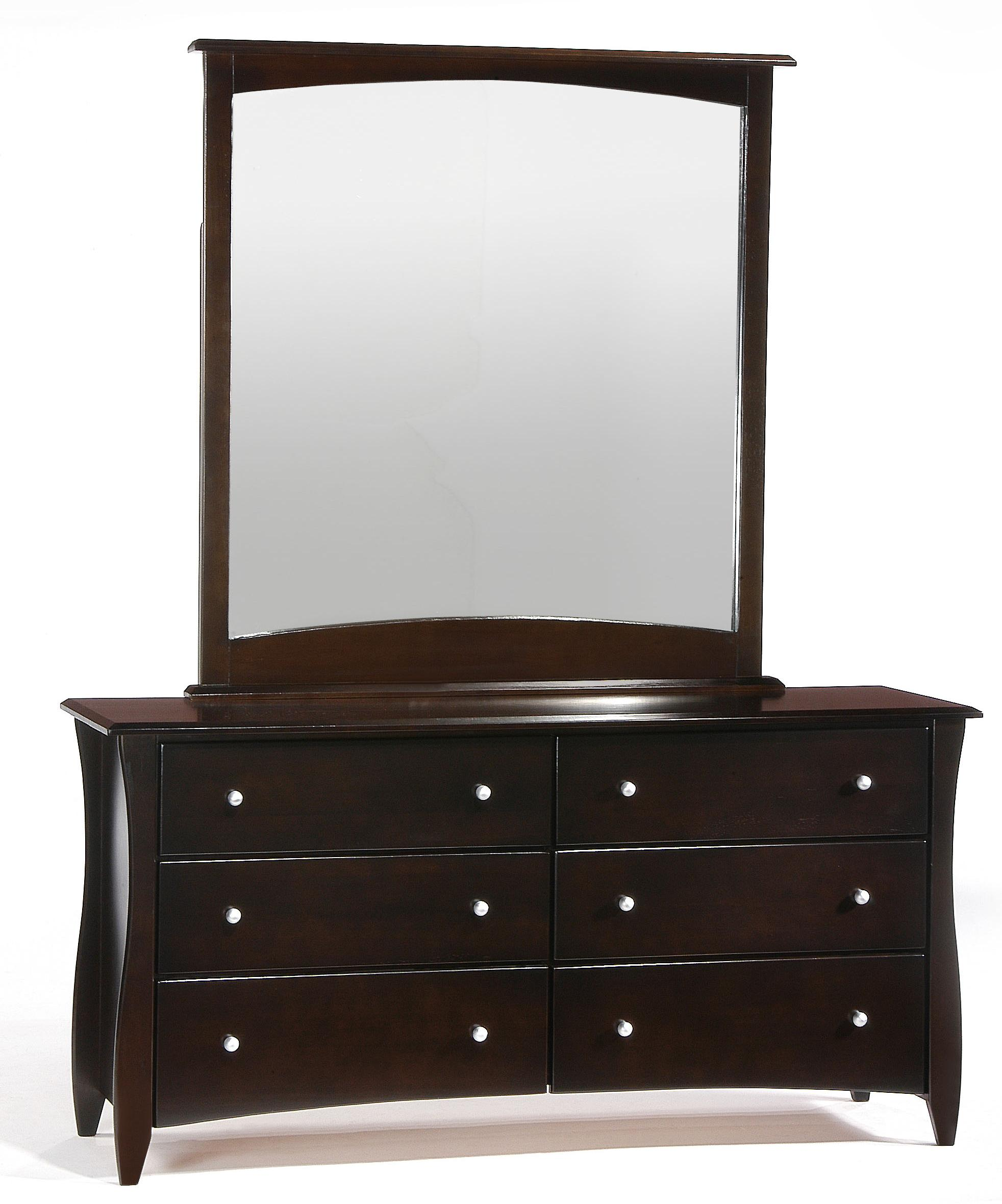 Spice Clove Dresser and Mirror Combo by Night & Day Furniture at Furniture and ApplianceMart