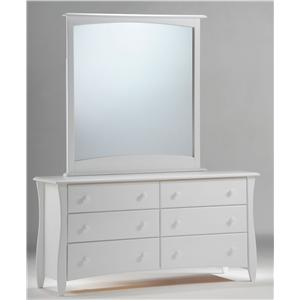 Night & Day Furniture Spice Clove Dresser and Mirror Combo