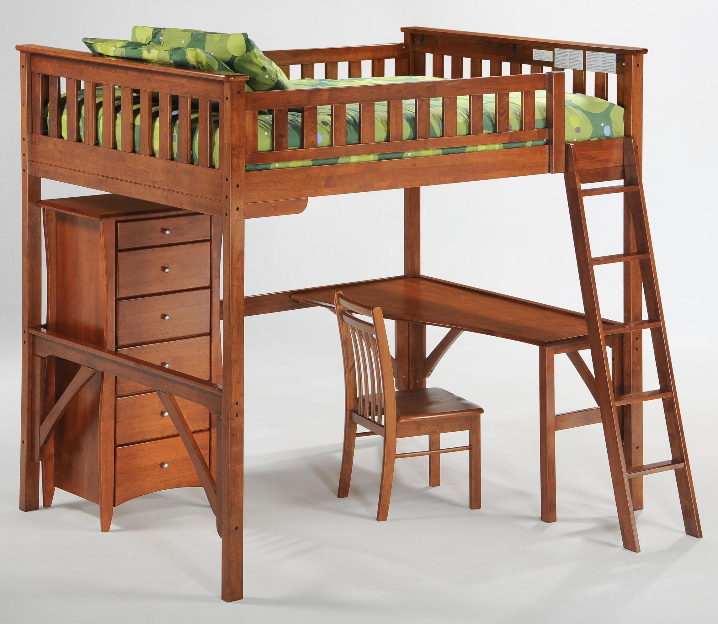 Spice Full Loft Bed with Desk by Night & Day Furniture at Furniture Superstore - Rochester, MN