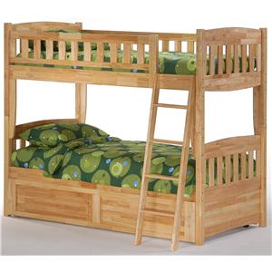 Night & Day Furniture Spice Twin Bunk Bed with Trundle