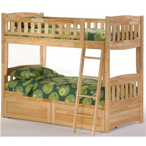 Night & Day Furniture Spice Twin Bunk Bed with Storage Drawers