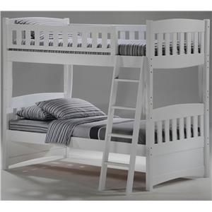Night & Day Furniture Spice Twin Bunk Bed