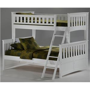 Night & Day Furniture Spice Twin/Full Bunk Bed