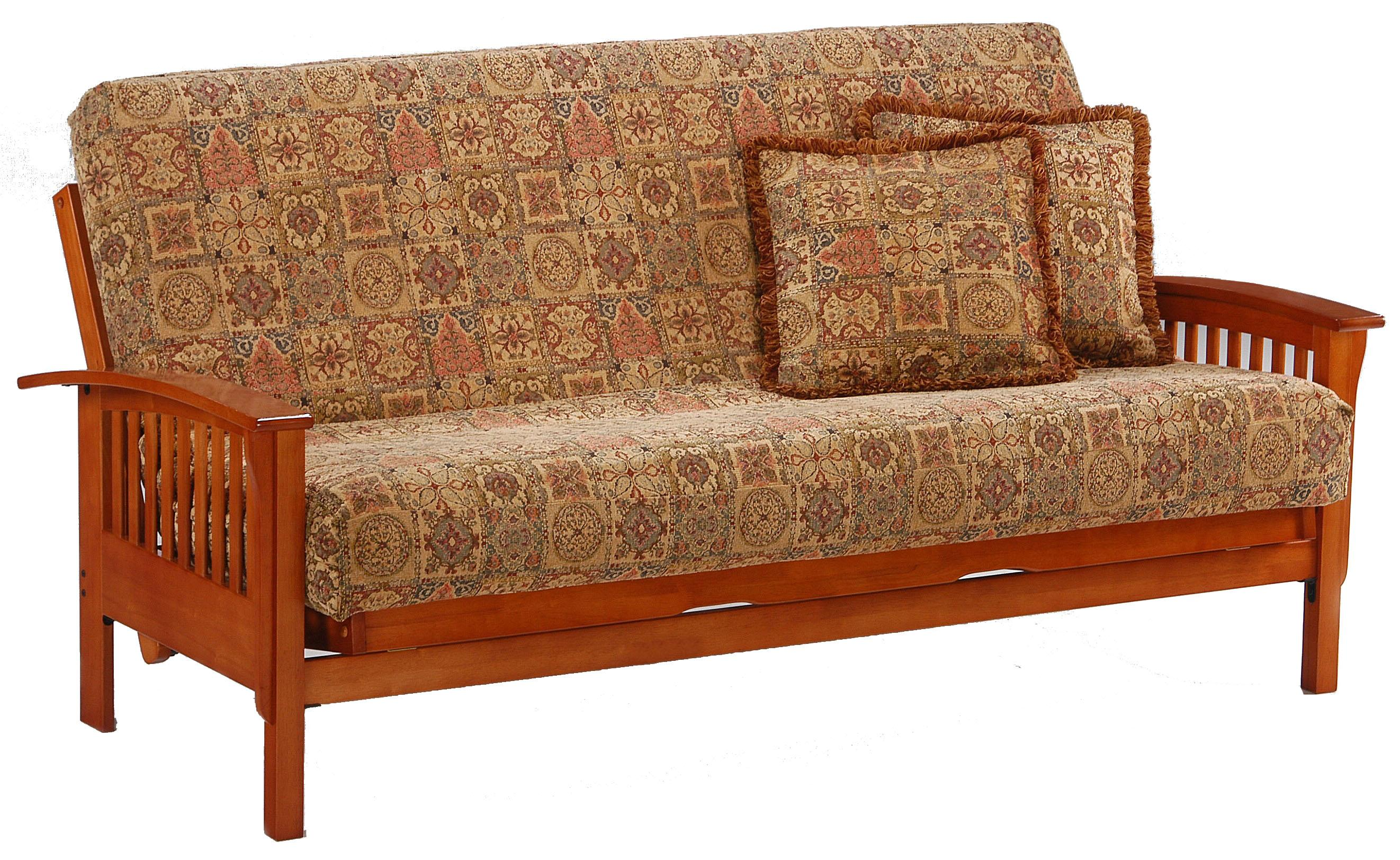 Winchester Teak Chair Size Futon by Night & Day Furniture at Godby Home Furnishings
