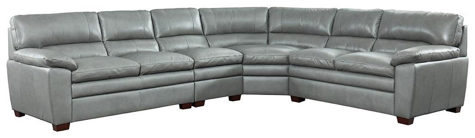 7251 Sectional Grey Leather Sectional by Niroflex Leather at Furniture Fair - North Carolina
