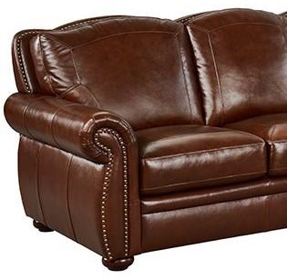 7260 BROWN Leather Loveseat by Niroflex Leather at Furniture Fair - North Carolina