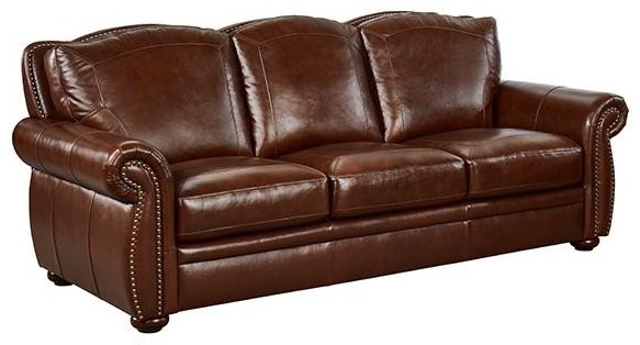 7260 BROWN Leather Sofa by Niroflex Leather at Furniture Fair - North Carolina
