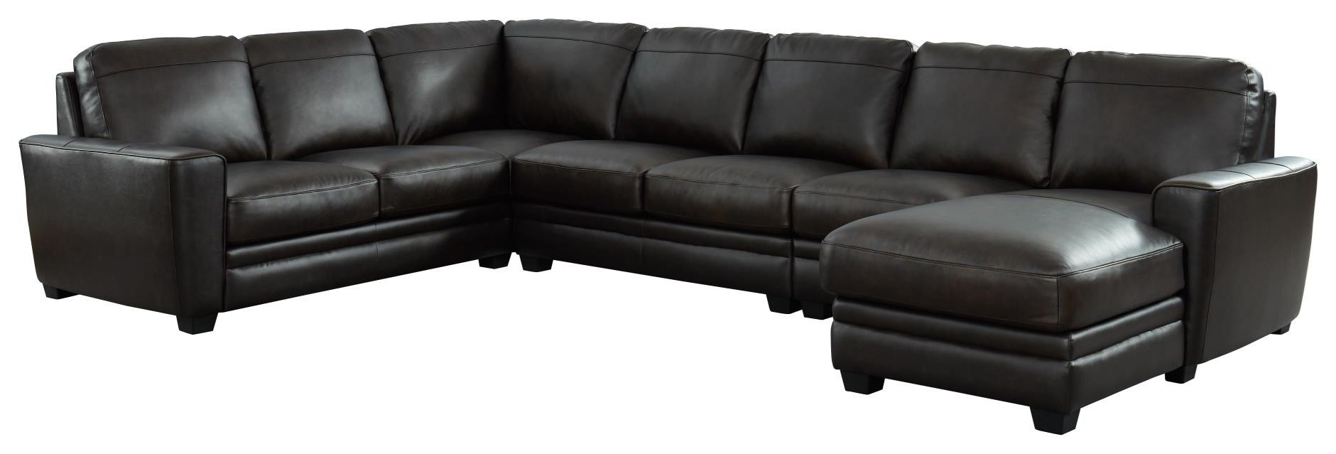 7518 Sectional Four Piece Sectional by Niroflex Leather at Furniture Fair - North Carolina