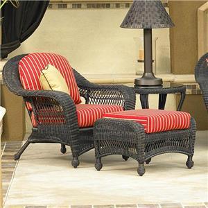 NorthCape International Charleston Chair and Ottoman