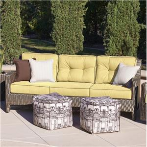 NorthCape International Elegance Three Seater Sofa w/ Pillows