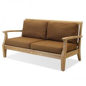 NorthCape International Teak Laguna 3 Seater Sofa w/ Cushion