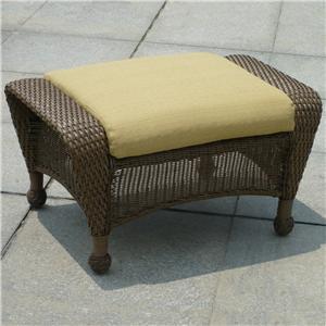 NorthCape International Winward Ottoman w/ Cushion