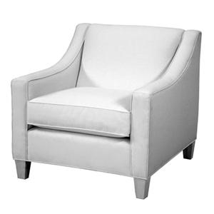 Contemporary Lounge Chair with Track Arm and Welted Seat Cushion