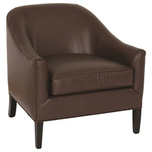Transitional Upholstered Barrel Chair