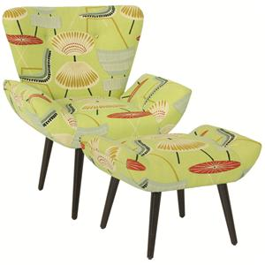 Norwalk Chaz  Contemporary Chair and Ottoman