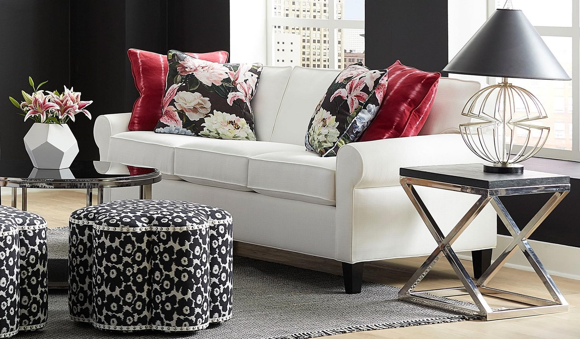 Copley Square Loose Back Stationary Sofa by Norwalk at Lagniappe Home Store