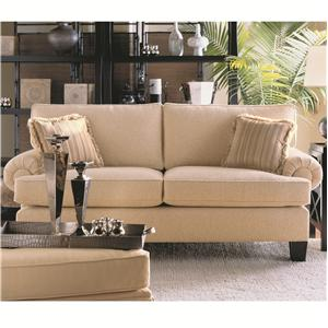 Traditional Loveseat With Welting