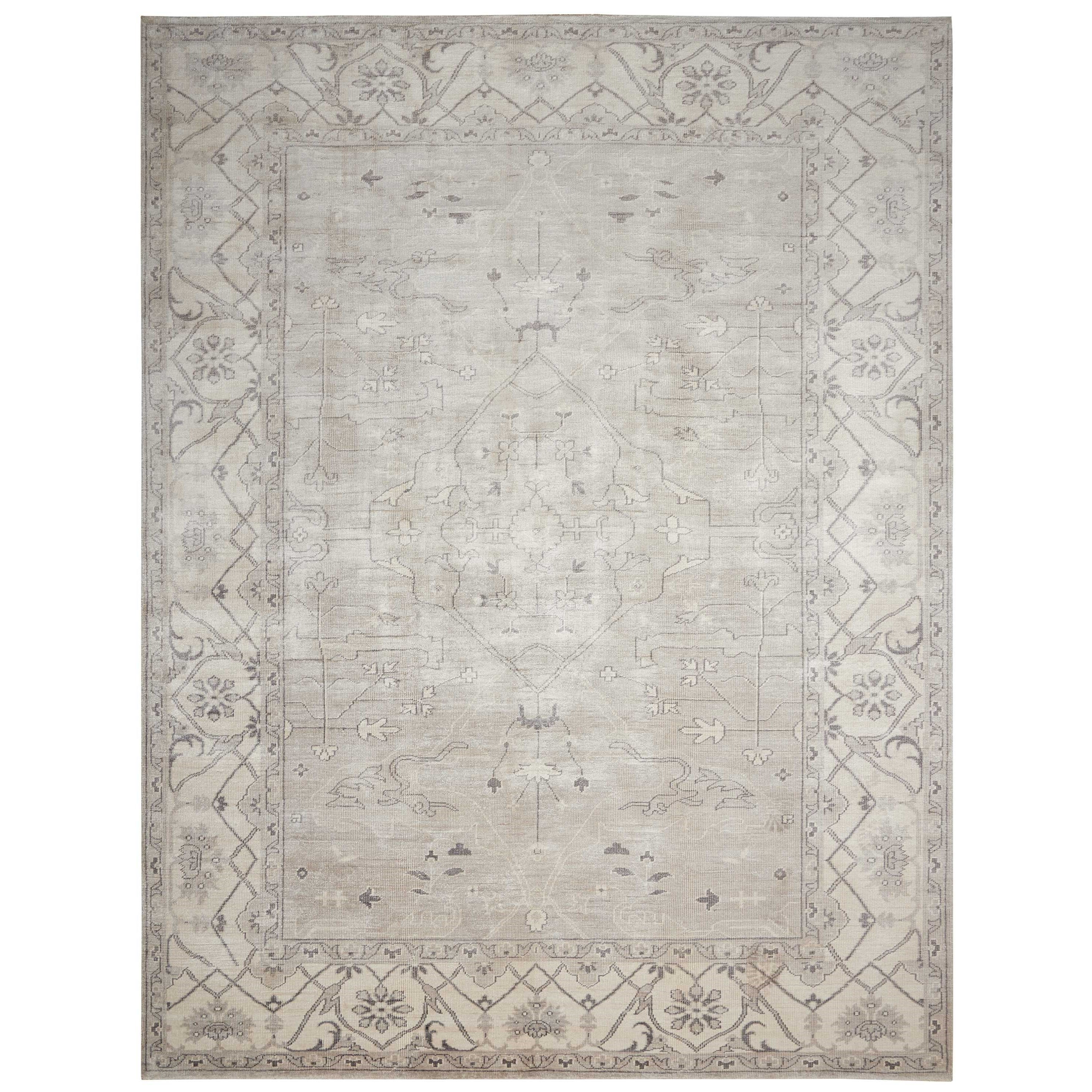 """Aldora1 8'6"""" X 11'6"""" Silver Rug by Nourison at Home Collections Furniture"""