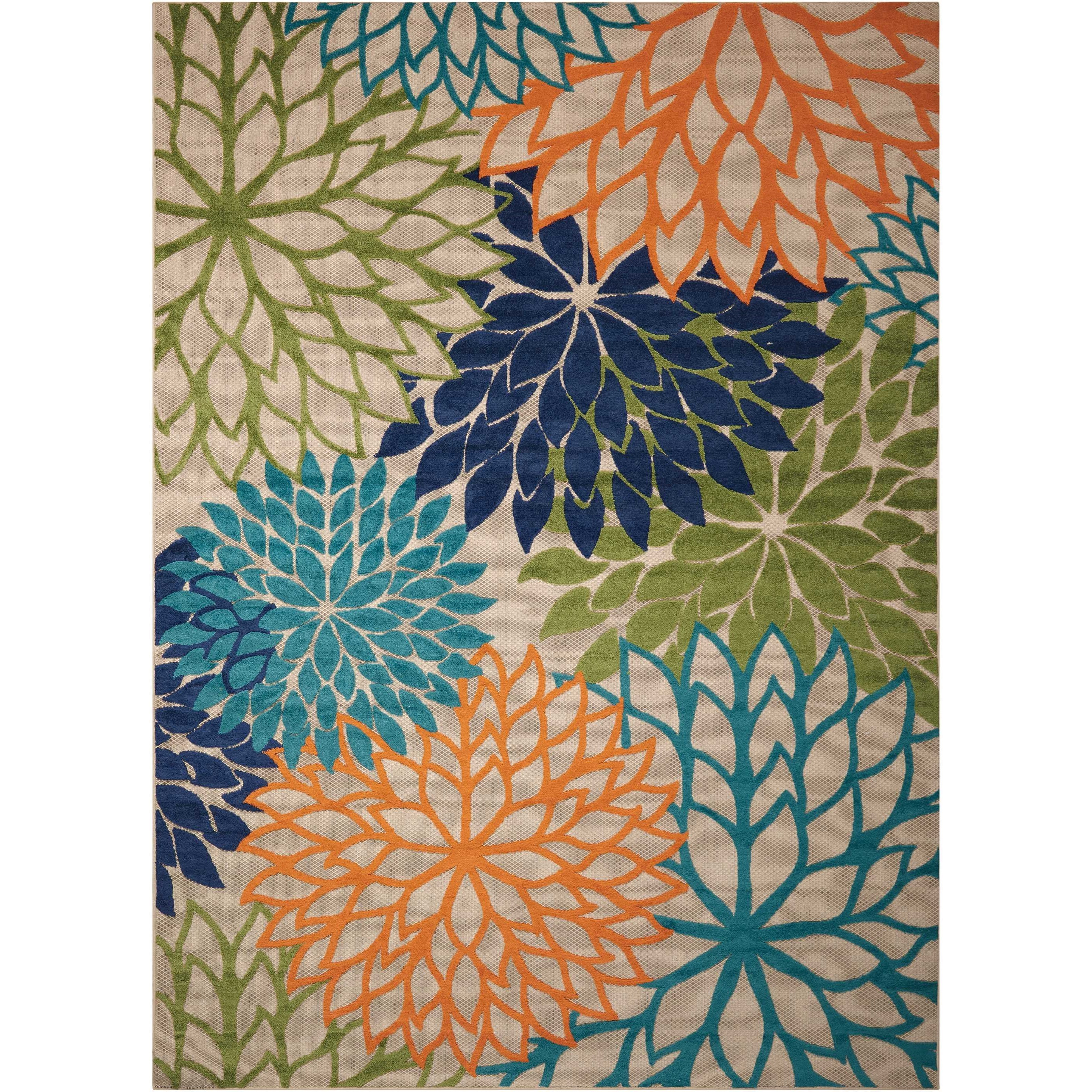 """Aloha 9'6"""" x 13' Multicolor Rectangle Rug by Nourison at Sprintz Furniture"""