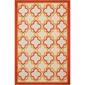 """2'8"""" x 4' Red Rectangle Rug"""