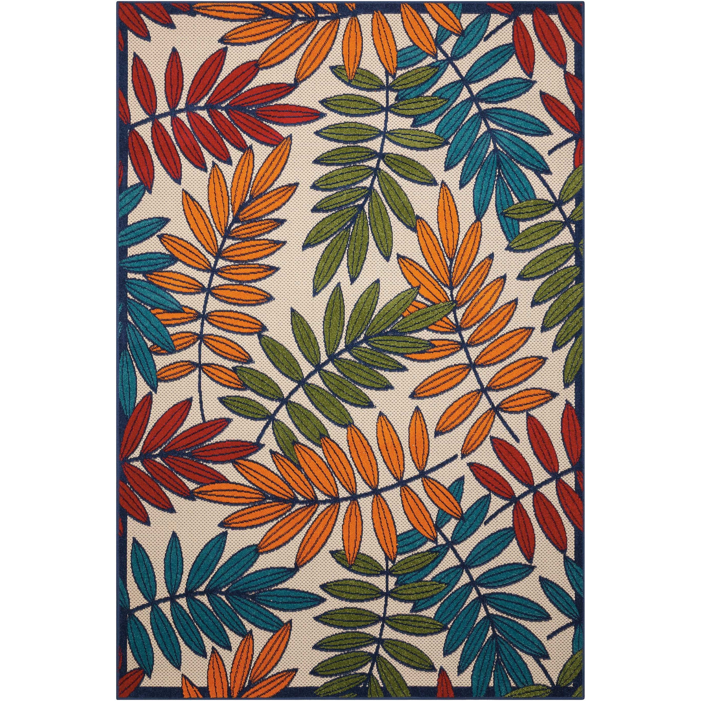 """Aloha 5'3"""" X 7'5"""" Multicolor Rug by Nourison at Home Collections Furniture"""
