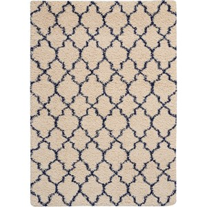Amore AMOR2 Blue and Ivory 4'x6' Area Rug