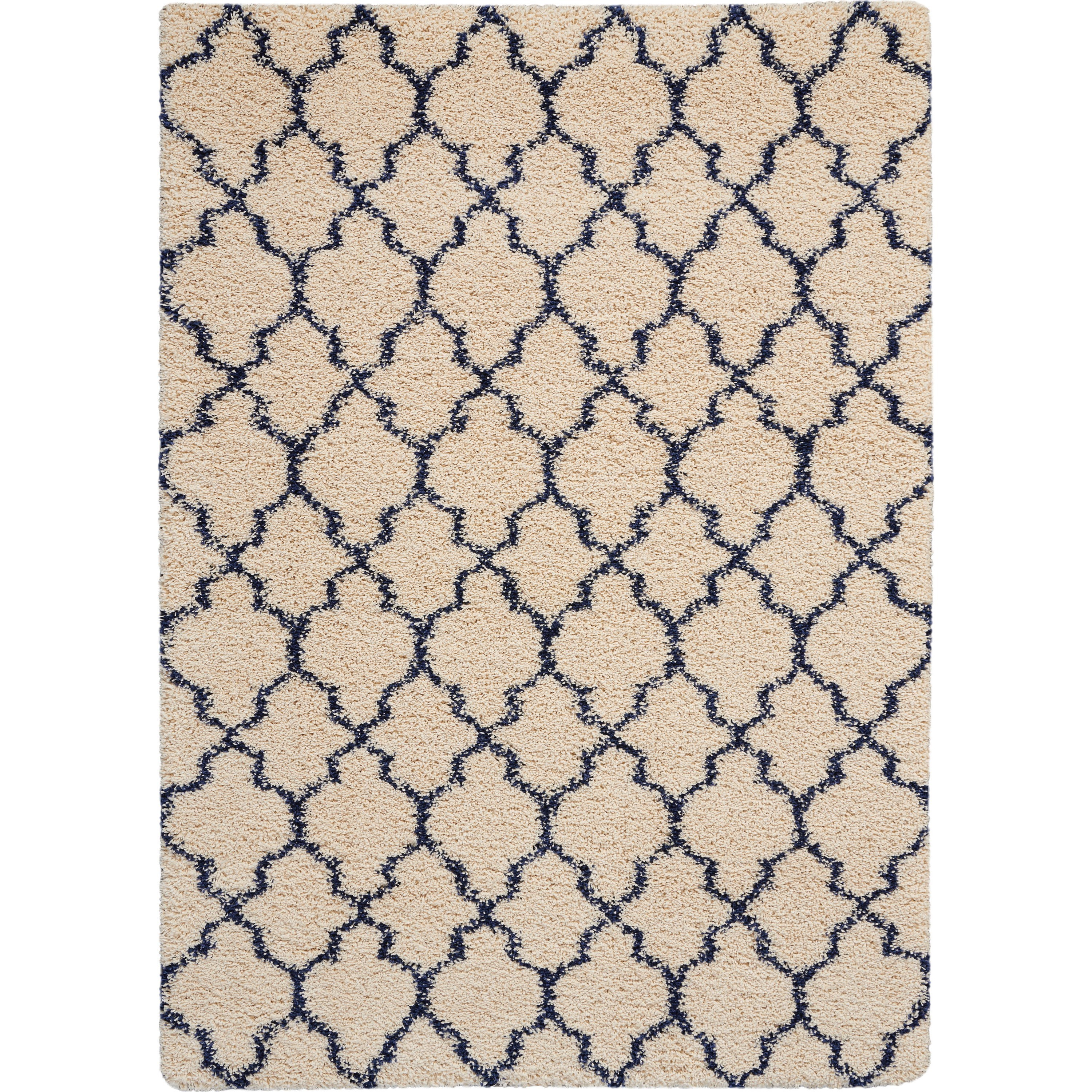 Amore Amore AMOR2 Blue and Ivory 5'x8' Area Rug by Nourison at Home Collections Furniture