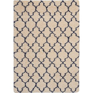 Amore AMOR2 Blue and Ivory 5'x8' Area Rug