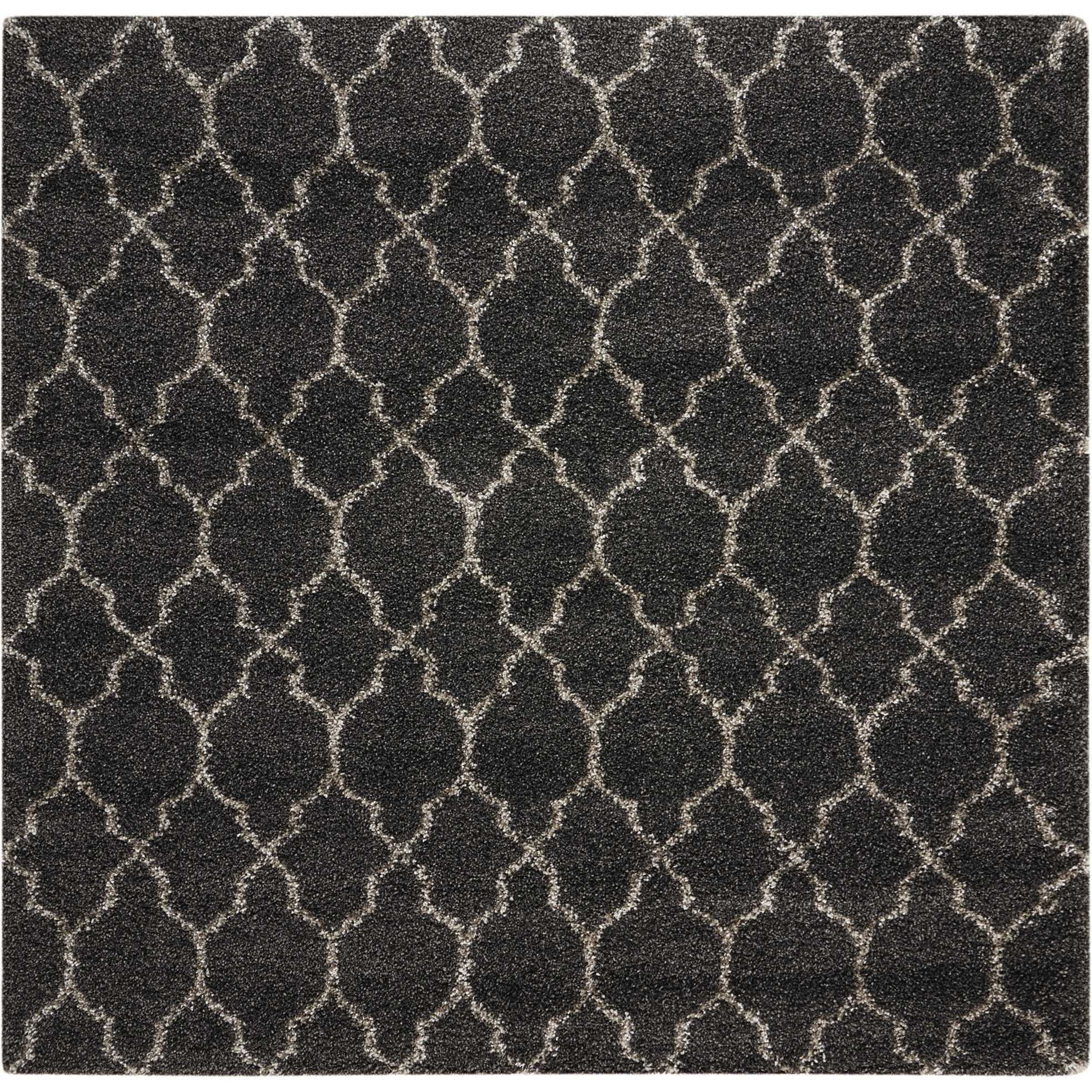 Amore Amore AMOR2 Black 7' Square   Rug by Nourison at Home Collections Furniture