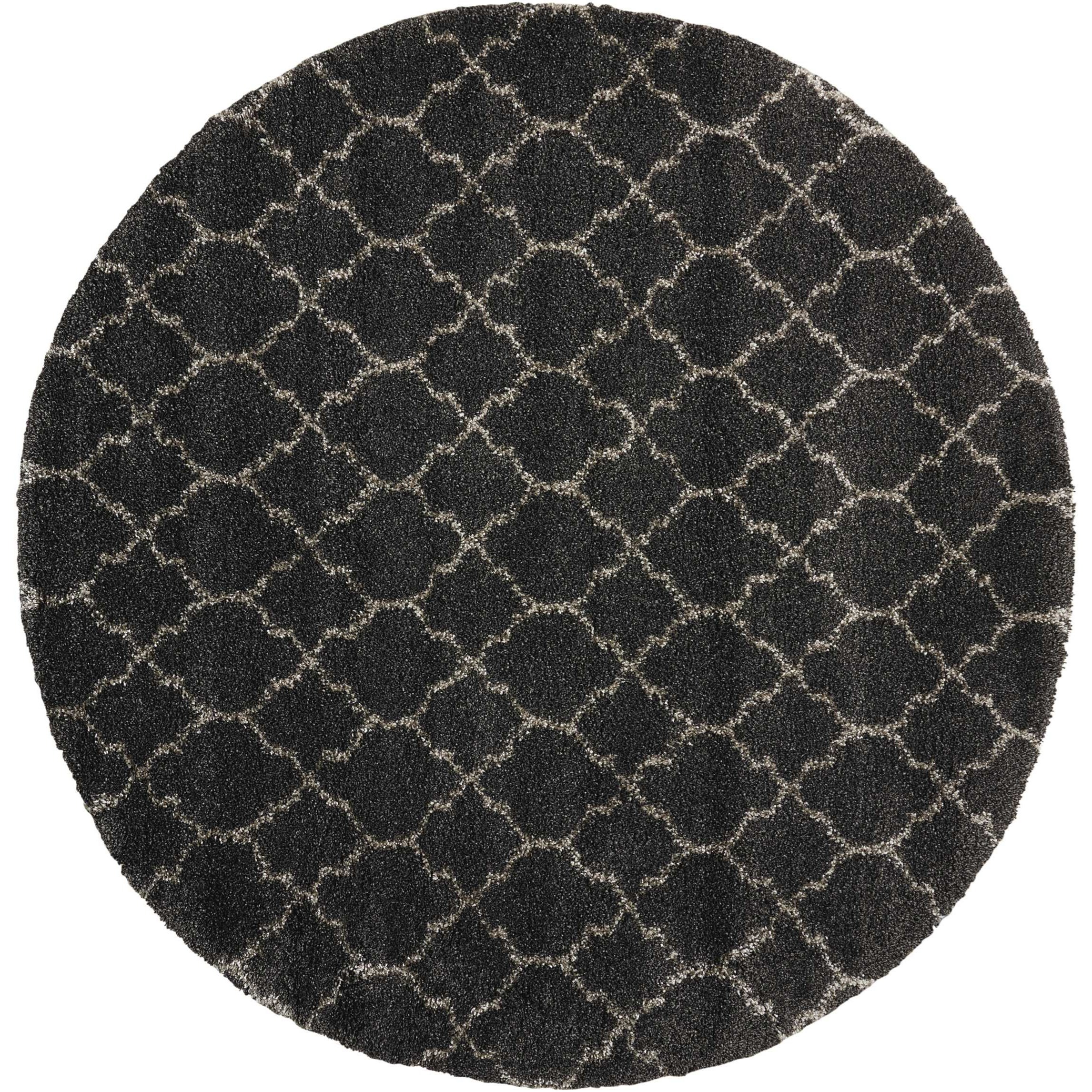 Amore Amore AMOR2 Black 8' Round   Rug by Nourison at Home Collections Furniture