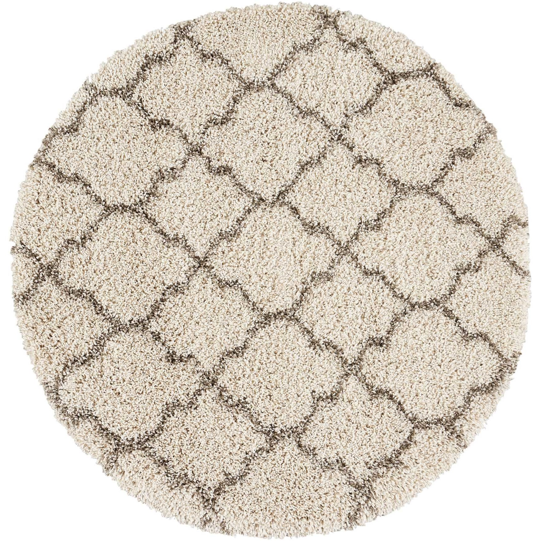Amore Amore AMOR2 Beige 4' Round Area Rug by Nourison at Home Collections Furniture