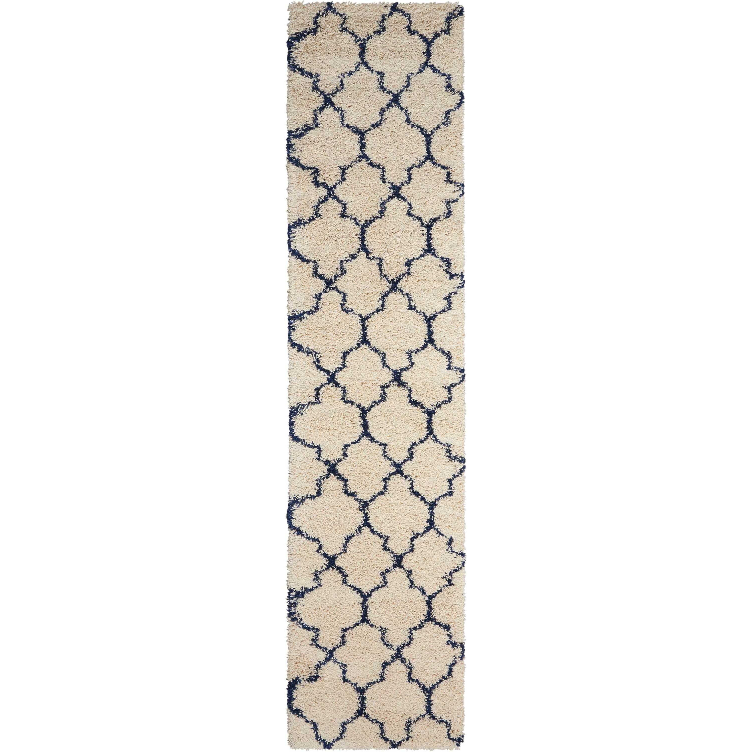 Amore Amore AMOR2 Blue and Ivory 10' Runner  Hallw by Nourison at Home Collections Furniture