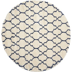 Amore AMOR2 Blue and Ivory 7' Round   Rug