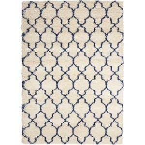 Amore AMOR2 Blue and Ivory 7' Square   Rug