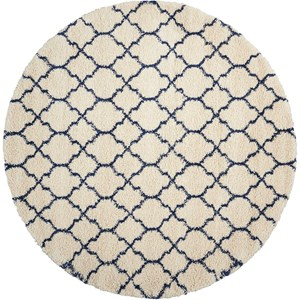 Amore AMOR2 Blue and Ivory 8' Round   Rug