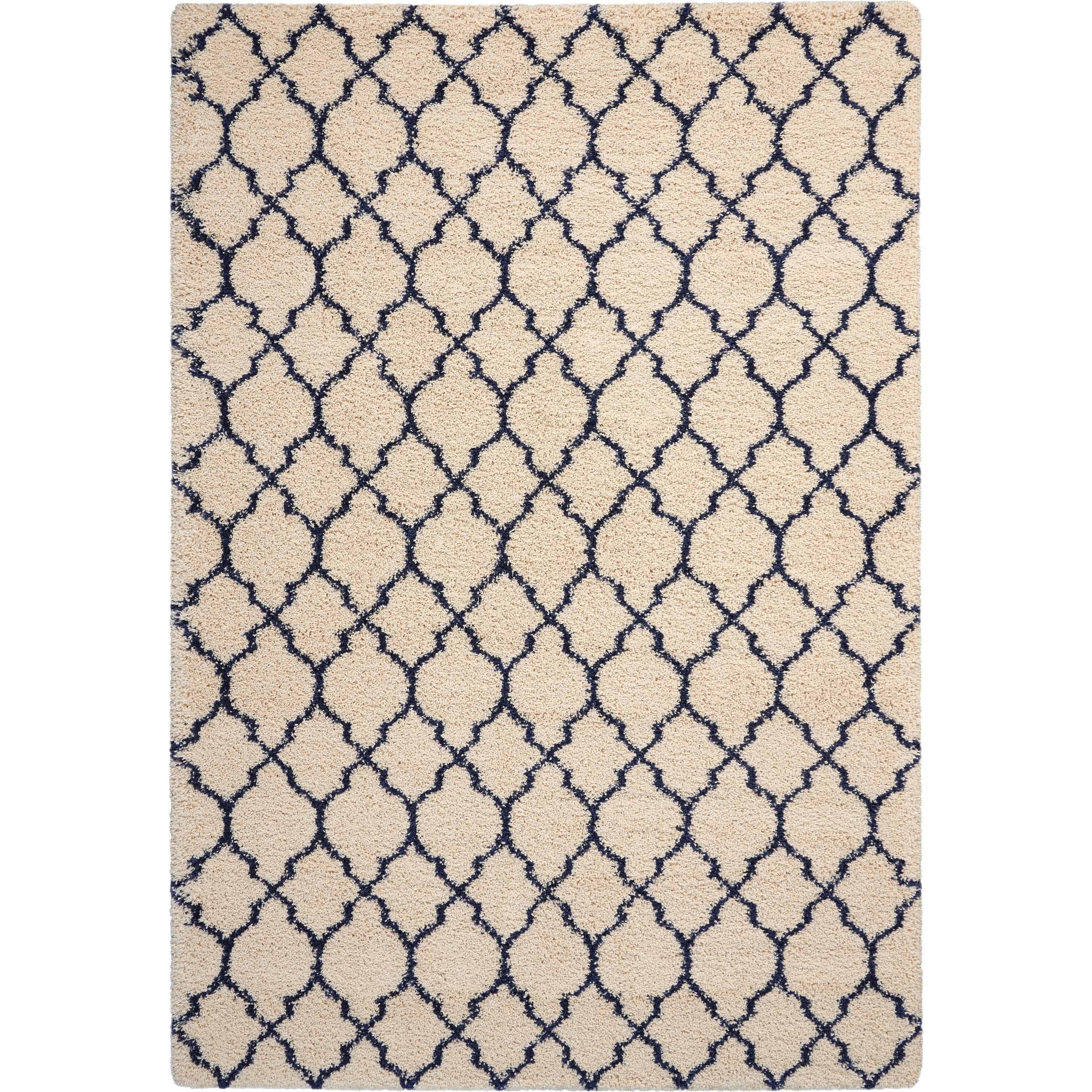 Amore Amore AMOR2 Blue and Ivory 7'x10'   Rug by Nourison at Home Collections Furniture