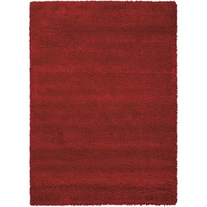 "3'11"" x 5'11"" Red Rectangle Rug"