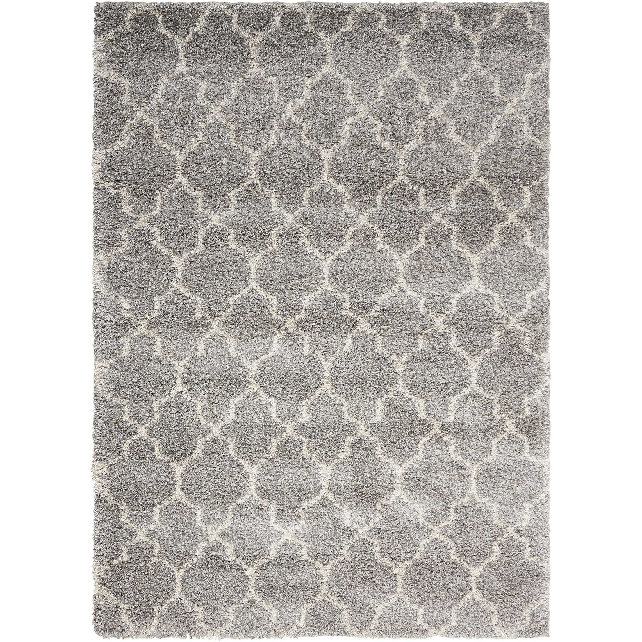 """Amore 3'11"""" x 5'11"""" Ash Rectangle Rug by Nourison at Home Collections Furniture"""