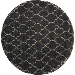 "6'7"" x 6'7"" Charcoal Round Rug"