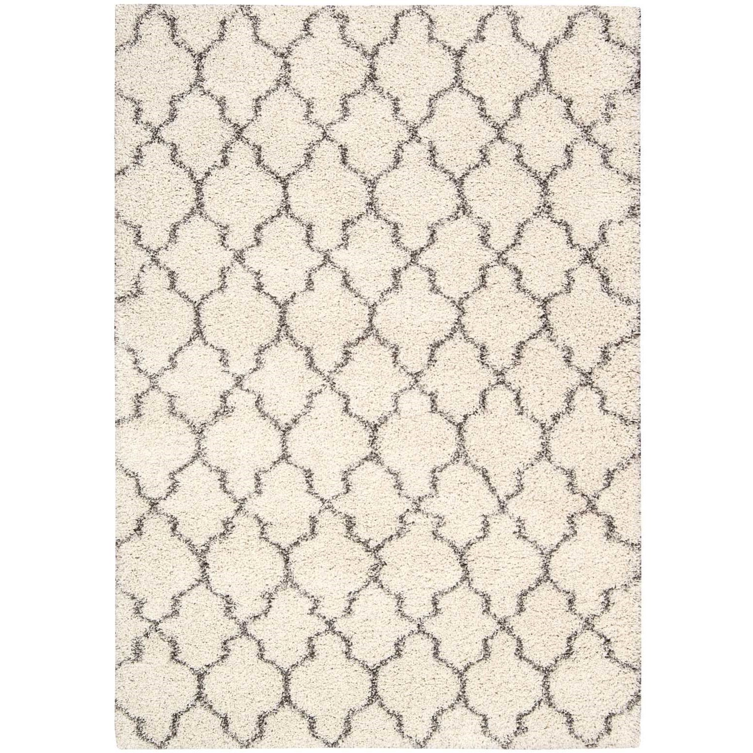 "Amore 6'7"" x 9'6"" Cream Rectangle Rug by Nourison at Home Collections Furniture"