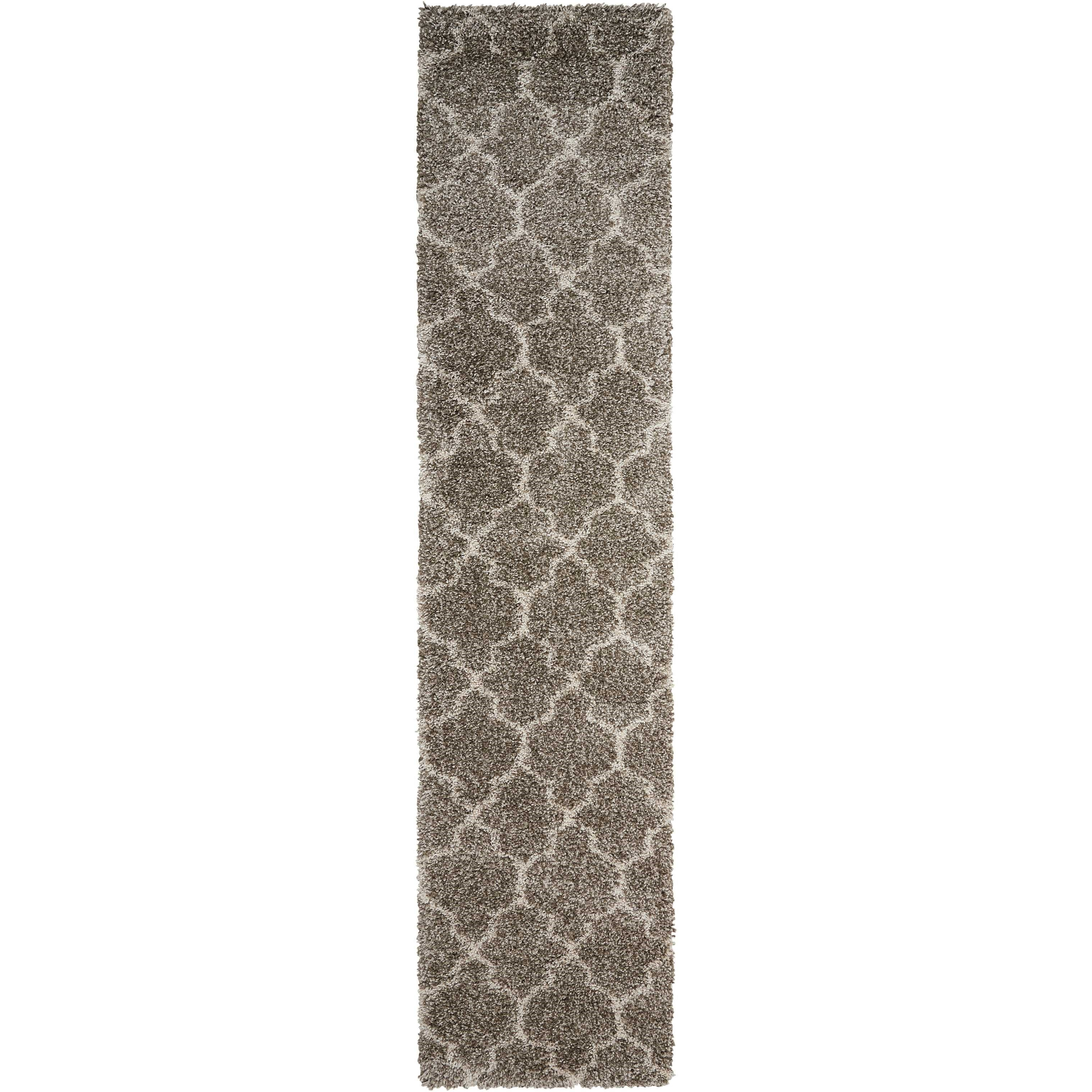 "Amore 2'2"" x 10' Stone Runner Rug by Nourison at Home Collections Furniture"