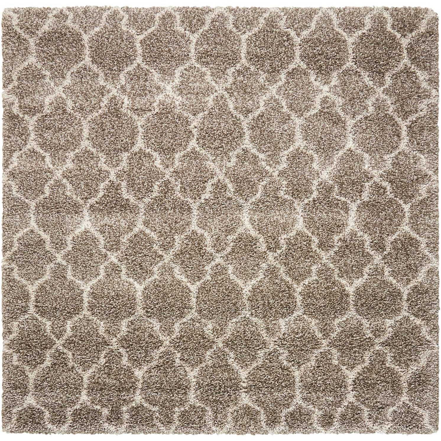"""Amore 6'7"""" x 6'7"""" Stone Rectangle Rug by Nourison at Home Collections Furniture"""