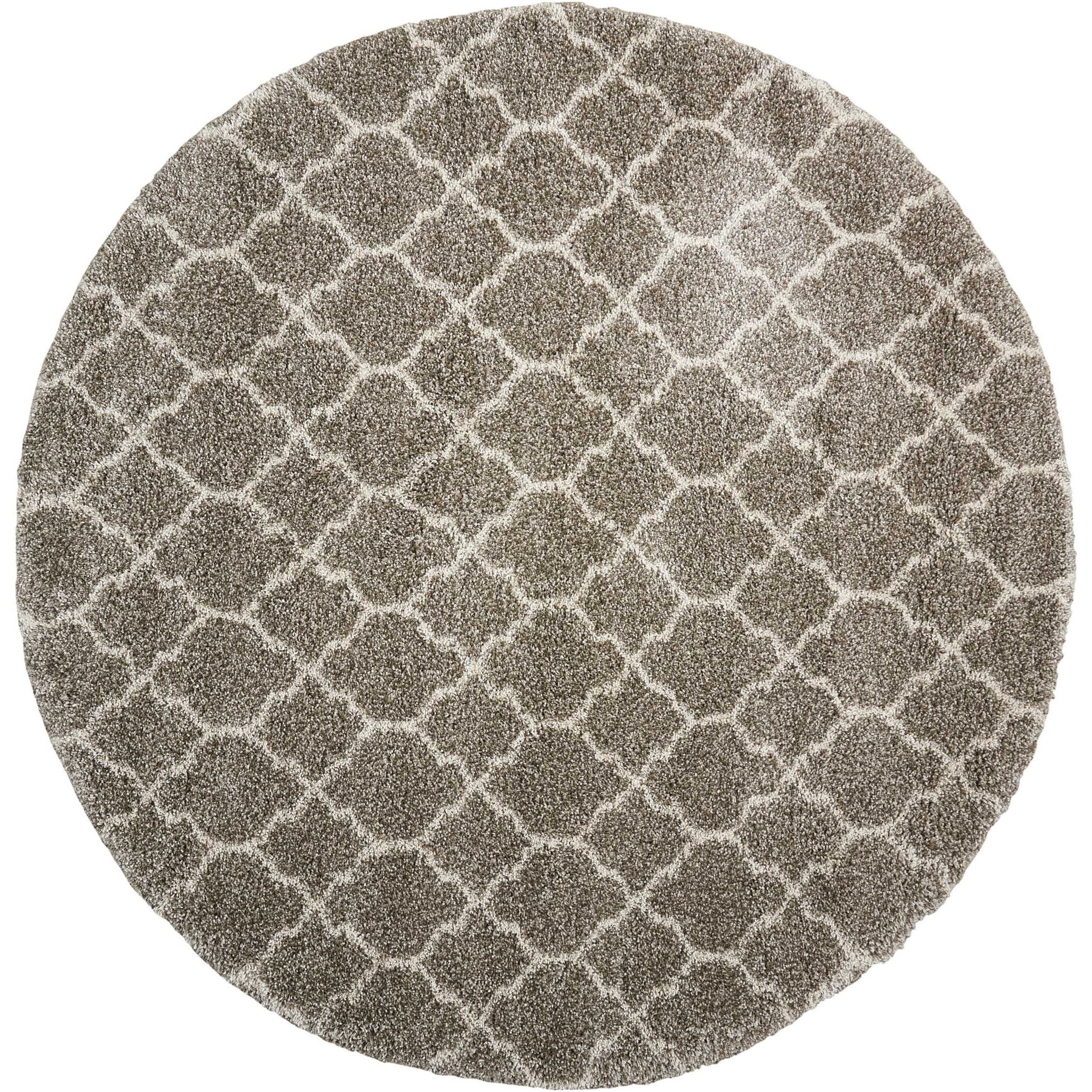 """Amore 7'10"""" x 7'10"""" Stone Round Rug by Nourison at Home Collections Furniture"""